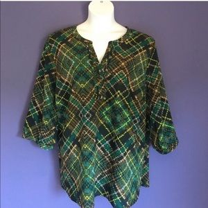 Catherines Plaid Blouse